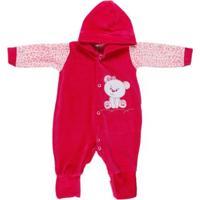 Macacão Infantil Para Bebê Menina - Rosa Pink