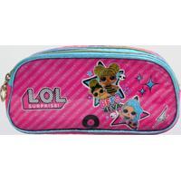 Estojo Lol Bff Infantil Com 2 Compartimentos Luxcel (Pink, Único)