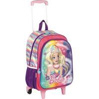 Mochilete Grande Barbie 18X Infantil Sestini - Feminino-Rosa