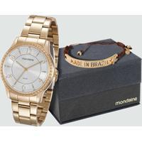 Kit Relógio Feminino Mondaine 99069Lpmvde1K5