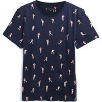 Camiseta Tommy Hilfiger Kids Menino Estampa Preta