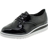 Sapato Feminino Oxford Beira Rio - 4174727 Verniz/Preto 34