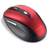 Mouse Multilaser, Comfort Sem Fio Usb, Vermelho Metalizado E Preto Mo239