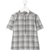 Bonpoint Camisa Xadrez Mangas Curtas - Preto