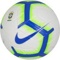 Bola De Futebol De Campo Nike Brasileirão 2019 Strike - Branco/Azul