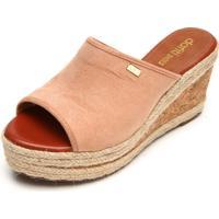 Tamanco Dafiti Shoes Anabela Bege