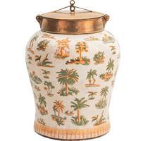 Vaso Decorativo De Porcelana Le Palmier Ii G