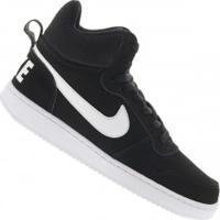 Tênis Cano Alto Nike Court Borough Mid - Masculino - Preto/Branco