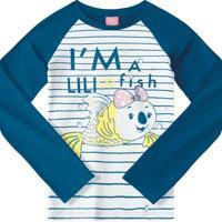 Blusa Lilica Ripilica Bebê 101103180002 Azul