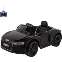 Carro Infantil Eletrico Audi R8S 12V Com Controle Remoto - Unissex-Preto