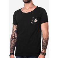 Camiseta Bolso Hibiscos 101427