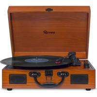 Vitrola Raveo Sonetto Com Bluetooth, Toca Discos, Entrada Usb Wood Bivolt