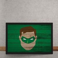 Quadro Decorativo Lanterna Verde Mural Minimalista Dc Comics 25X35