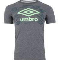 Camiseta Umbro Twr Legacy Classic - Masculina - Cinza Esc Mescla