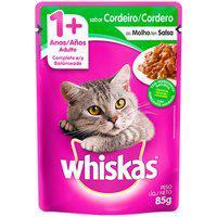Ração Para Gatos Whiskas Adulto 1+ Anos Sachê Sabor Cordeiro Ao Molho 85G