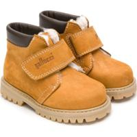 Gallucci Kids Shearling Lined Touch Strap Boots - Marrom