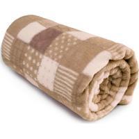 Cobertor Baby Estampado Patchwork- Marrom & Marrom Clarocamesa