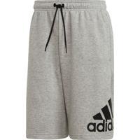 Shorts Fitness E Funcional Adidas Must Haves Badge Of Sport Cinza