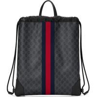 32a2014ad Netshoes; Gucci Mochila 'Soft Gg Supreme' - Preto