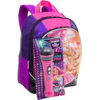 Mochila Pequena Barbie Rock N' Royals Infantil Sestini - Feminino-Rosa