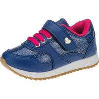 Tênis Jogging Joys Shoes Casual Velcro Azul