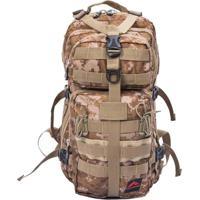 Mochila Cargueira 25 Litros Camuflada Crampon Army Trilhas E Rumos