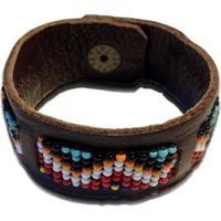 Bracelete Wosmock Étnico - Feminino-Marrom