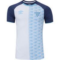 Camisa Do Avaí Aquecimento 2018 Umbro - Masculina - Azul Esc Branco d24197931b502