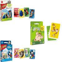 Kit Jogos De Cartas Uno Disney + Uno Pixar + Mico - Copag