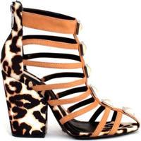 Sandália Block Heel Brownie | Schutz