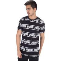 Camiseta Puma Amplified - Masculina - Preto