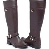 Bota Babu Shoes Montaria Country Zíper Feminina - Feminino-Marrom