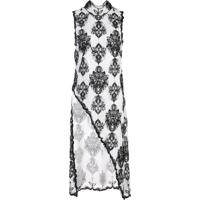 Victoria Hayes Floral Print Asymmetric Blouse - Branco