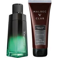 Combo Malbec Vert + Club: Desodorante Colônia Vert, 100Ml + Creme De Barbear Club, 150G