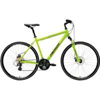 Bicicleta Merida Crossway 15 Md - Aro 700 - Freio A Disco Mecânico - Quadro 55Cm - 24 Marchas - Verde Cla/Cinza Cla