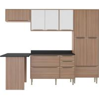 Cozinha Compacta Zerrin 11 Pt 3 Gv Branco E Nogueira