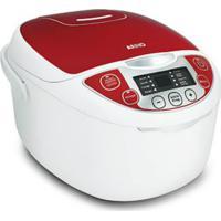 Panela Elétrica Arno Multicooker Fc22 220V Branca E Vermelha Com 12 F