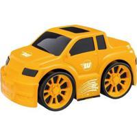 Carrinho Wash Garage Pick-Up Com Acessórios - Masculino-Amarelo