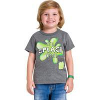 Camiseta Infantil Menino Brandili Cinza