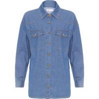 Camisa Feminina Jeans Susan - Azul