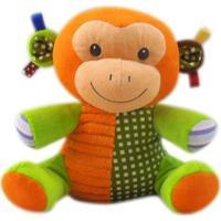 Pelúcia Infantil - Animais Sentados - Macaco - Minimi