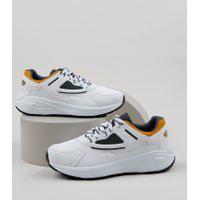Tênis Masculino Oneself Sneaker Chunky Com Recortes Branco