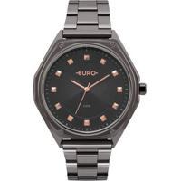 64731e3d86c ... Relógio Euro Metal Trendy - Feminino-Grafite
