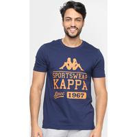 Camiseta Kappa Sportwear Masculina - Masculino-Marinho