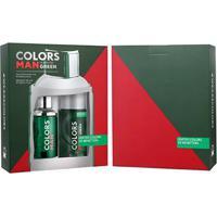 Kit Colors Man Green Benetton - Perfurme Masculino Eau De Toilette 100Ml + Desodorante 150Ml - Masculino