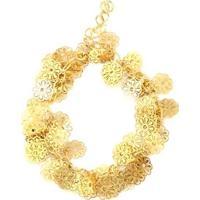 Pulseira Tudo Joias Folhas Folheada A Ouro 18K - Feminino-Dourado