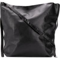 Ann Demeulemeester Cracked-Effect Shoulder Bag - Preto