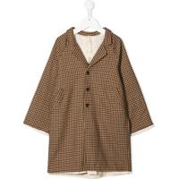 Little Creative Factory Kids Houndstooth Single Breasted Jacket - Marrom