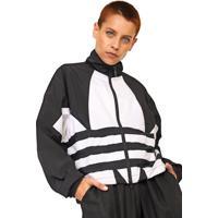 Jaqueta Corta Vento Adidas Originals Lrg Logo Tt Preta/Branca