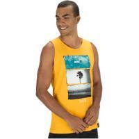 Camiseta Regata Fatal Estampada 20747 - Masculina - Amarelo